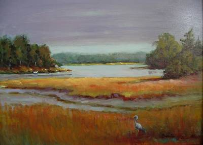Painting - Morning In The Salt Marsh by Bonita Waitl