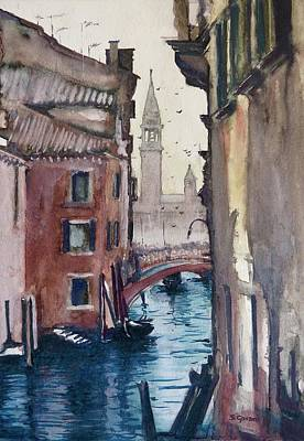 Painting - Morning In Venice by Geni Gorani