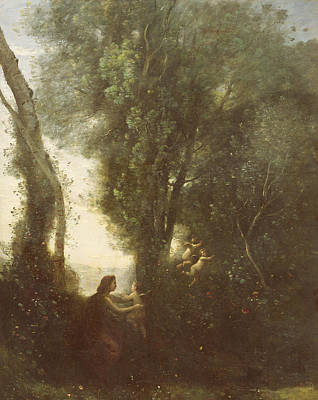 Clearing Painting - Morning by Jean Baptiste Camille Corot