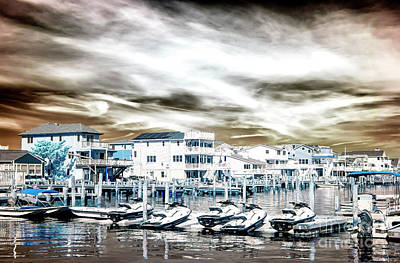 Ski House Wall Art - Photograph - Morning Jet Skis Infrared At Long Beach Island by John Rizzuto