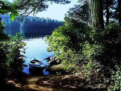 Morning Kayak Solitude Art Print