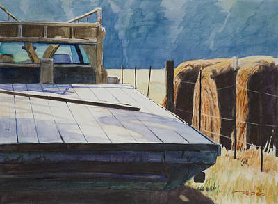 Watercolor Painting - Morning Labor by Christopher Reid