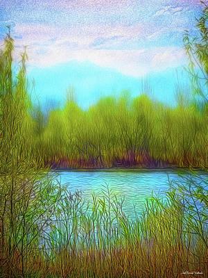 Digital Art - Morning Lake In Stillness by Joel Bruce Wallach