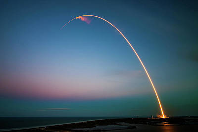 Morning Launch From Cape Canaveral  Art Print
