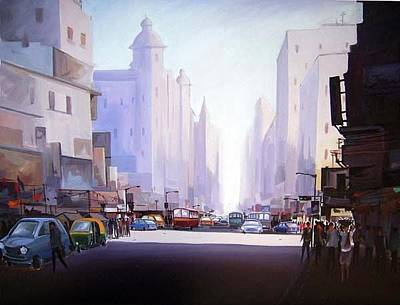 Painting - Morning Light-acrylic On Canvas by Samiran Sarkar