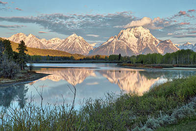 Photograph - Morning Light At Oxbow Bend by Joe Paul