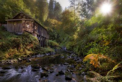 Morning Light Cedar Creek Grist Mill Art Print by David Gn