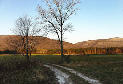 Photograph - Morning Light Creeping Toward Story's Field At Palenville by Terrance DePietro