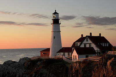 Portland Lighthouse Photograph - Morning Light by Dan Jordan