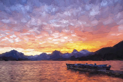 Mountains Digital Art - Morning Light Iv by Jon Glaser