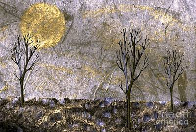 Nature Abstract Drawing - Morning Light by Mimo Krouzian