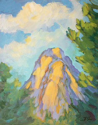 Painting - Morning Light On Lily Rock by Diane McClary