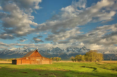 Photograph - Morning Light On Moulton Barn by Joe Paul