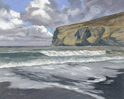 Painting - Morning Light On Pencannow Point by Lawrence Dyer
