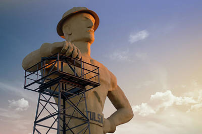 Photograph - Morning Light On The Tulsa Oklahoma Driller by Gregory Ballos