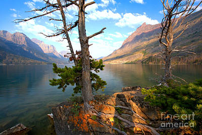 Photograph - Morning Light Over St. Mary Lake by Adam Jewell