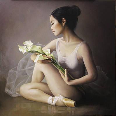 Ballerina Painting - Morning Light by Pieter Wagemans