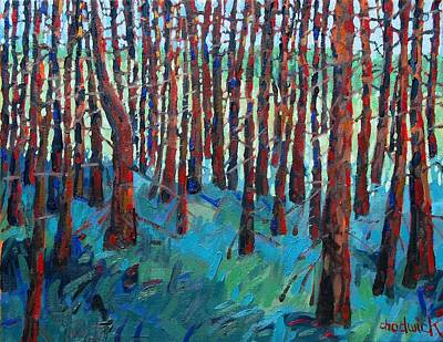Painting - Morning Light Piney Woods by Phil Chadwick