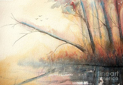 Landscape Painting - Morning Light by Rebecca Davis