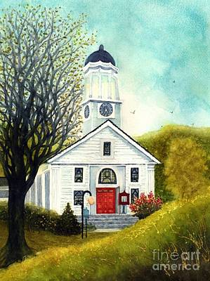 Painting - Morning Light So True - Country Church Unionville Ny by Janine Riley