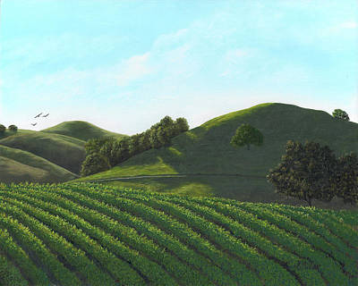 Painting - Morning Light Sonoma Valley by Kathie Miller