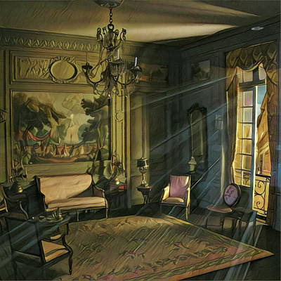 Digital Art - Morning Light Through The Sitting Room Window by Dan Stone