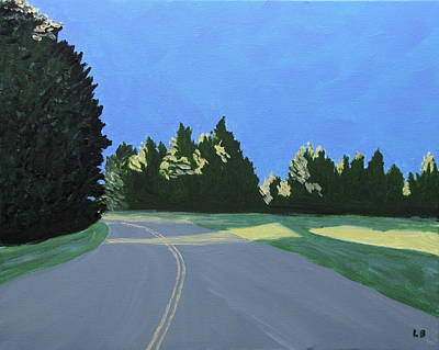 Maine Roads Painting - Morning Light Uma by Laurie Breton