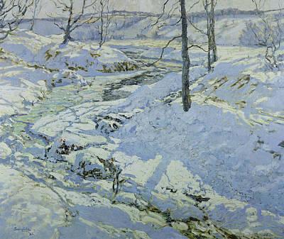 Snow Scene Landscape Painting - Morning Light by Walter Elmer Schofield