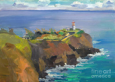 Morning Lighthouse Art Print by Cynthia Riedel