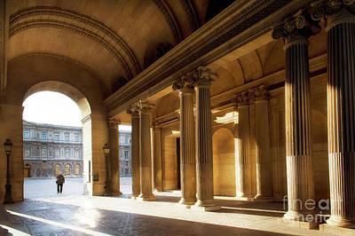Photograph - Morning Lights At The Louvre Museum by Ivy Ho