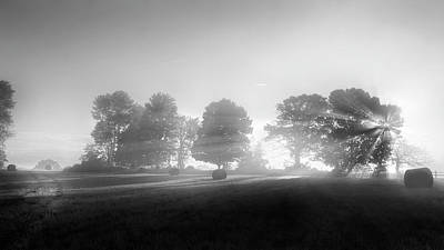 Photograph - Morning Lights Bw by Bill Wakeley