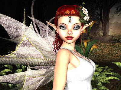 Fay Digital Art - Morning Lily Fairy by Alexander Butler