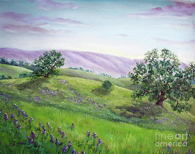 Painting - Morning Lupines by Laura Iverson