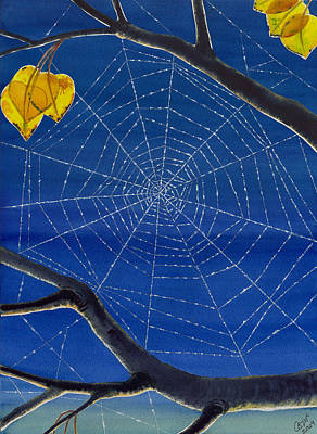 Spider Web Painting - Morning Magic by Catherine G McElroy