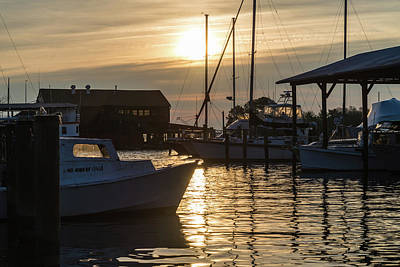 Maryland Photograph - Morning Marina by Kristopher Schoenleber