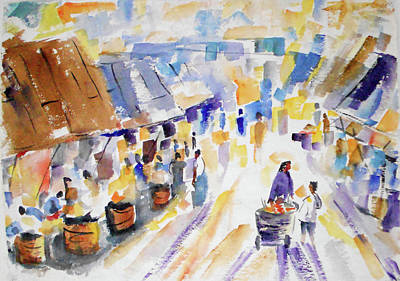 Painting - Morning Market by Tom Simmons