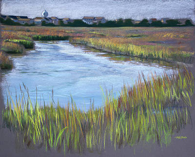 Marsh Scene Painting - Morning Marsh by Christopher Reid