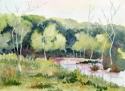 Cuyahoga Painting - Morning Marsh by Marsha Elliott