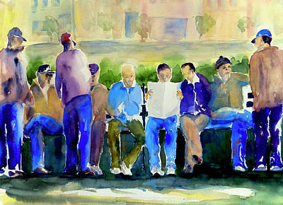 Painting - Morning Meeting In Portsmouth Square by Tom Simmons