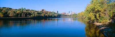 Mississippi River Scene Photograph - Morning, Minneapolis, Minnesota by Panoramic Images