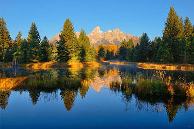 Photograph - Morning Mirror At Schwabacher Landing by Greg Norrell