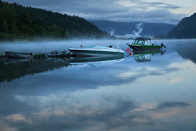 Photograph - Morning Mist Adams Lake by Theresa Tahara