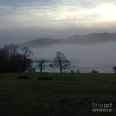 Photograph - Morning Mist At Loch Lomond 2 by Joan-Violet Stretch