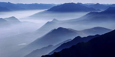 Mountains Photograph - Morning Mist by Chad Dutson