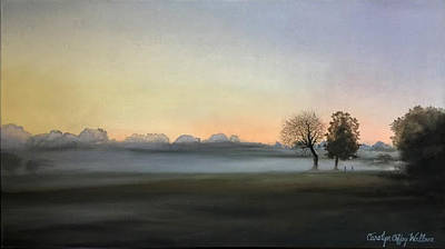 Painting - Morning Mist Encounter by Carolyn Coffey Wallace