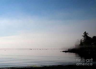 Photograph - Morning Mist Frenchmans Bay by Lennie Malvone