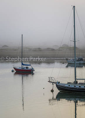 Photograph - Morning Mist In Morro Bay  8b5208 by Stephen Parker