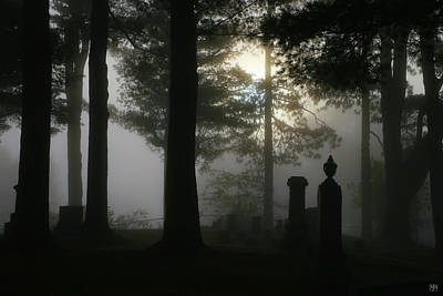 Photograph - Morning Mist In The Graveyard by John Meader