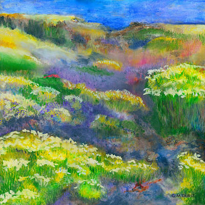 Impressionistic Beach Painting - Morning Mist by Michael Durst