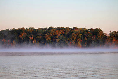 Photograph - Morning Mist On Kentucky Lake by Art Block Collections